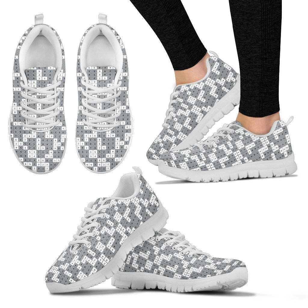 ea9496546391 Women's Sneakers-Sudoku Puzzle Shoes for Women Sudoku Game Lovers ...