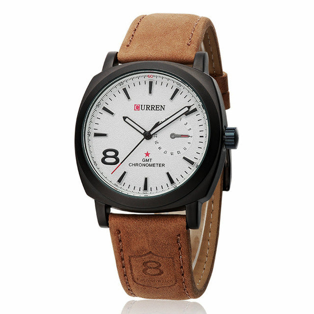 Original Curren Business Quartz Watch Men Clock military Army Casual Wrist watch leather fashion quality Male Relojes hombre