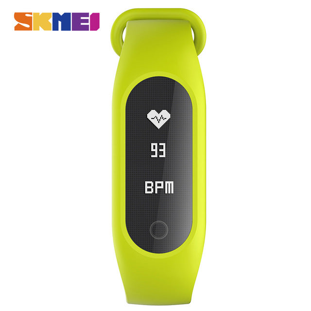 SKMEI B15SH Men Women Digital Wristwatches Smart Bracelets Heart Rate Monitor Fitness Sleep Tracker OLED Display Sports Watches