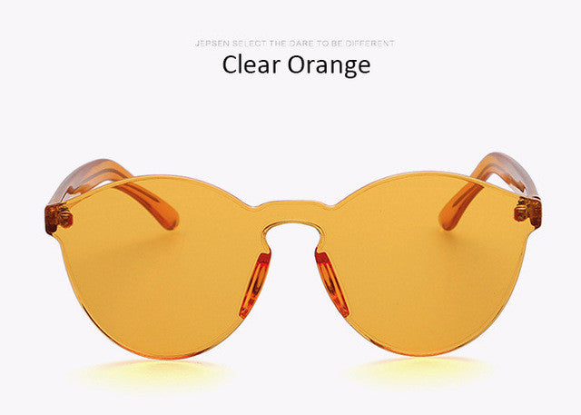 Fashion Women Sunglasses Cat Eye Shades Luxury Brand Designer Sun glasses Integrated Eyewear Candy Color Sunglasses Female UV400