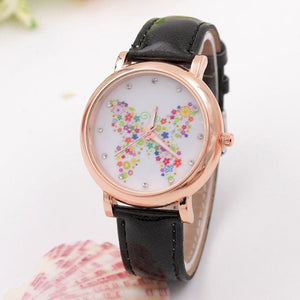 2017 Ladies Watch Fashion Quartz Watch Butterfly Shoes Pattern Leather Band Analog Quartz Vogue Watches