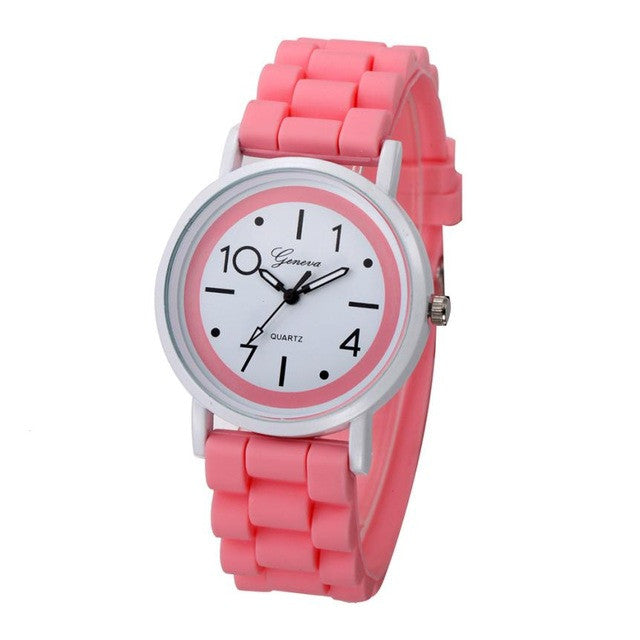 2017 New Fashion Geneva Watch Women Cute Numerals Silicone Jelly Gel Analog Quartz Watch Female Clock Hours women watches