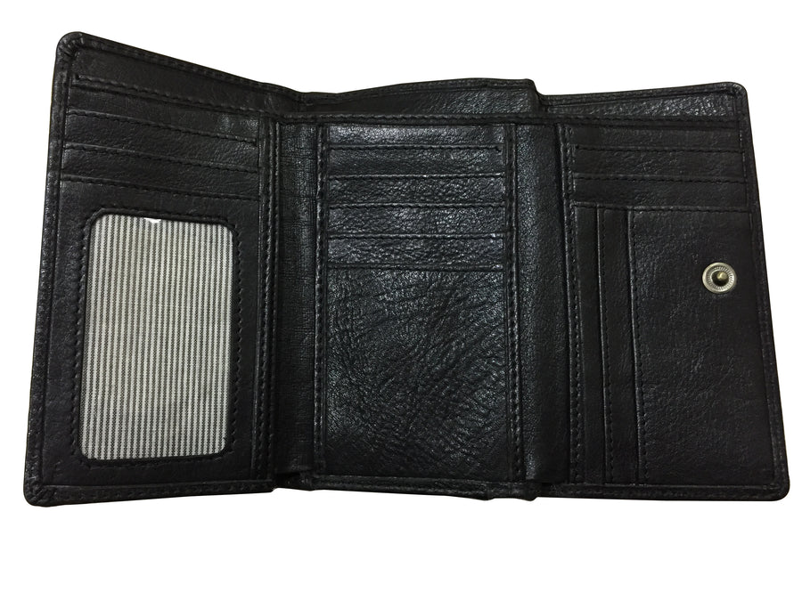 BLACK LADIES LEATHER WALLET