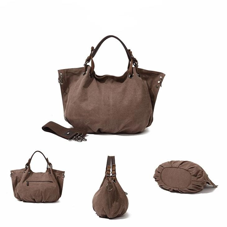 Coffee Canvas/Leather Bag