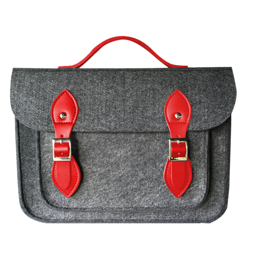 "SPLASH OF RED 11"" SATCH BAG"