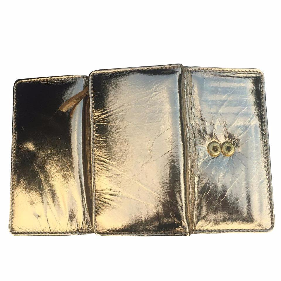 METALLIC GOLD LADIES LEATHER WALLET