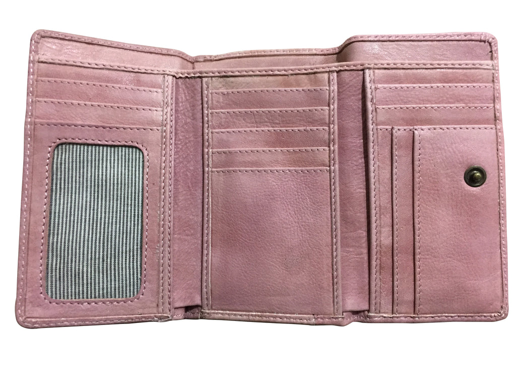 PINK LADIES LEATHER WALLET