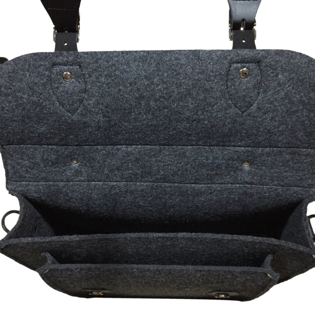 "SHADES OF GREY 11"" SATCH BAG"
