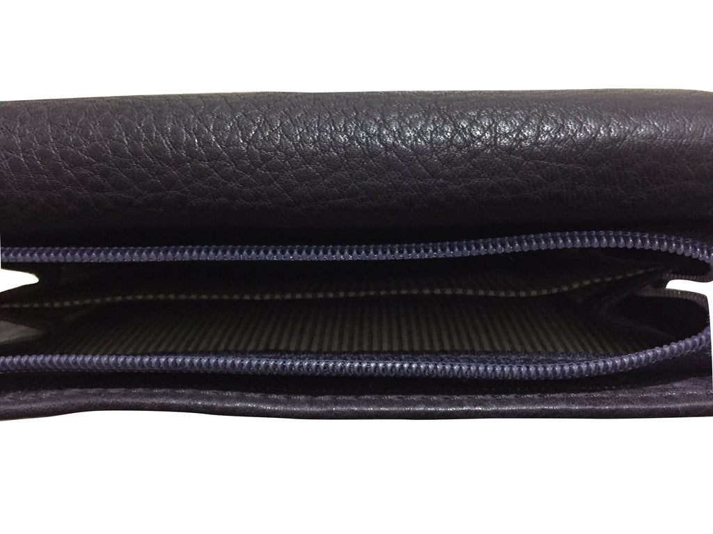 DARK PURPLE LADIES LEATHER WALLET