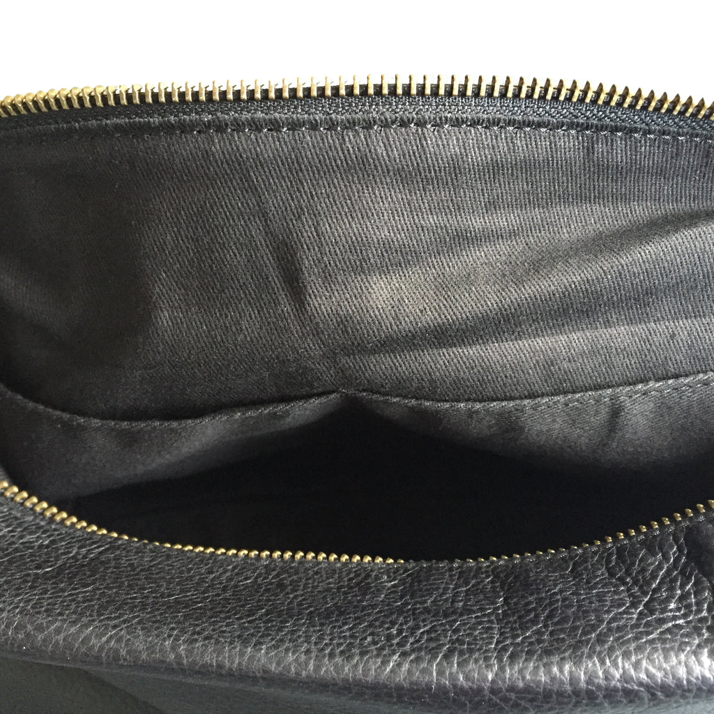 MEN'S LEATHER TOILET BAG