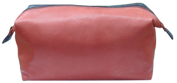 LADIES LEATHER TOILETRY BAG
