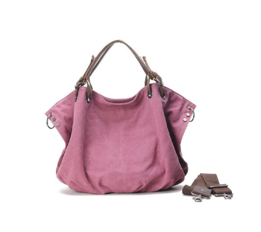 Pink Canvas/Leather Bag