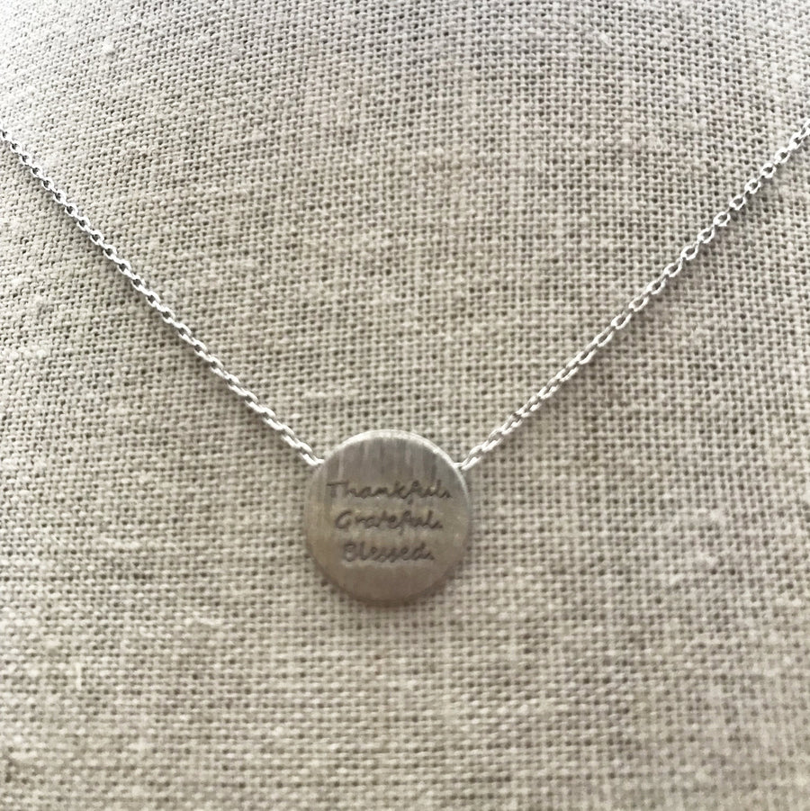 Thankful.Grateful.Blessed. Necklace