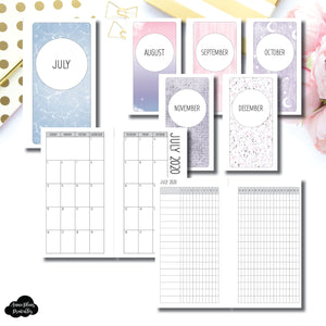 Personal Rings Size | SIMPLE JUL - DEC 2020 Monthly Calendar + Tracker Printable Insert