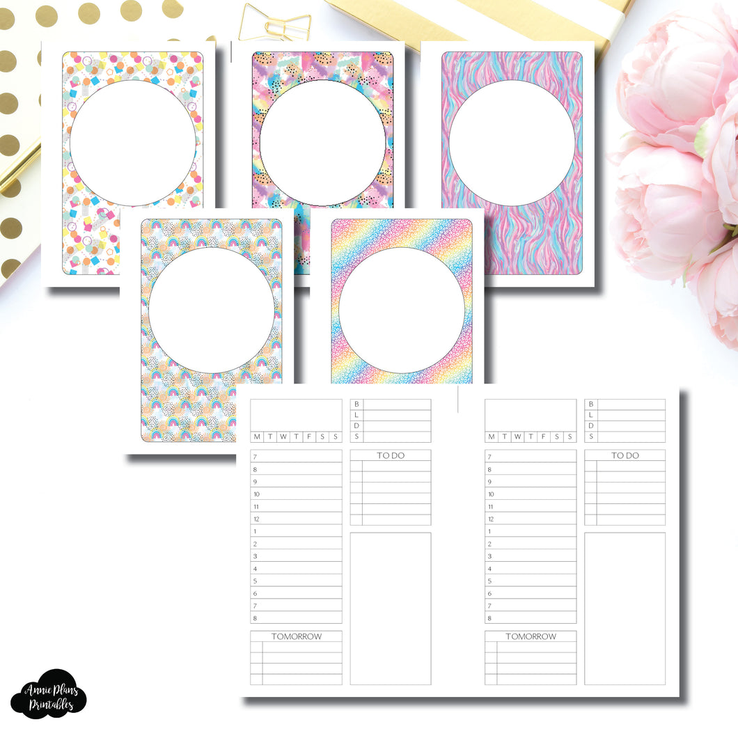 A6 Rings Size | Undated Structured Timed Daily Printable Insert