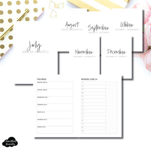 A5 Rings Size | SIMPLE JUL - DEC 2020 Bundle: Weekly/Daily TIMED Printable Insert