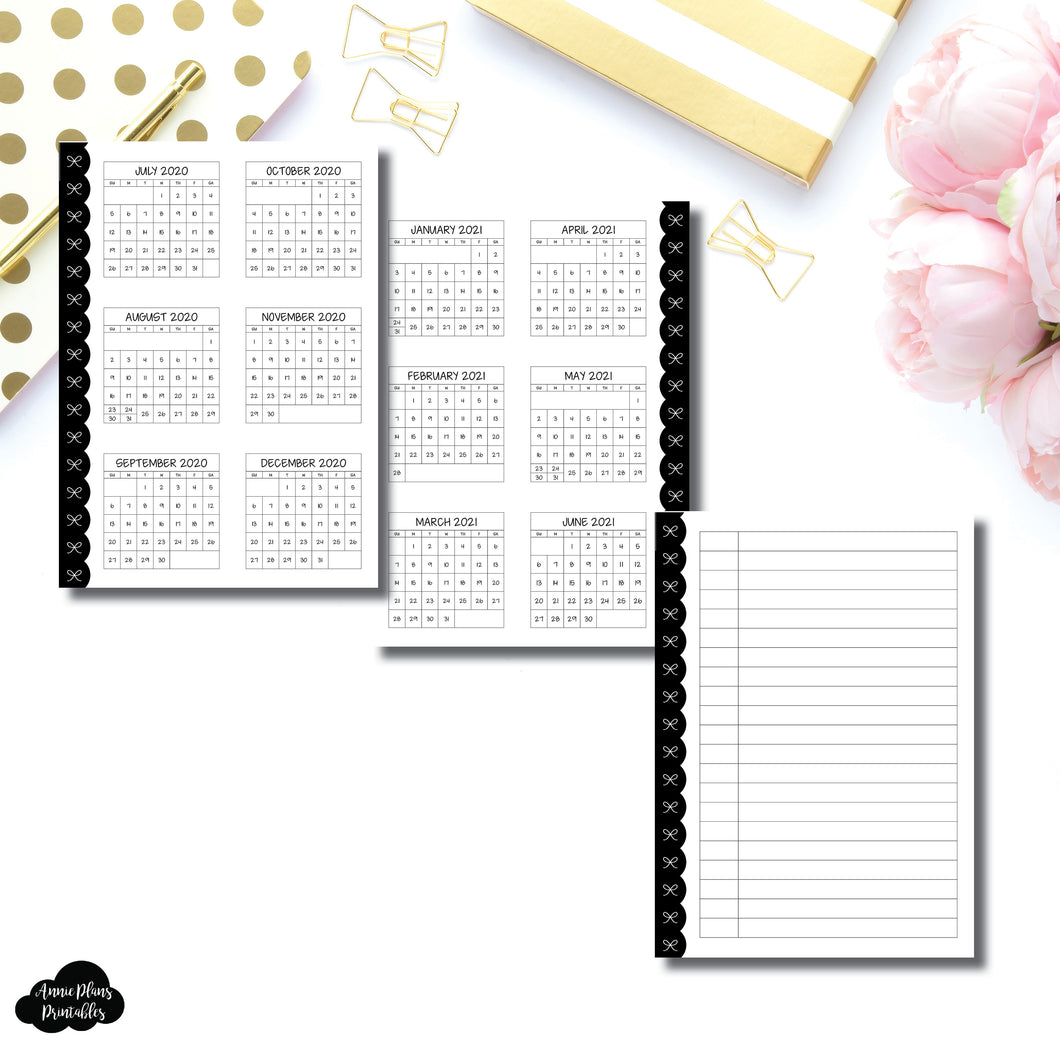 Pocket Plus Rings Size | 2020 - 2021 Academic Yearly Overview Printable Insert