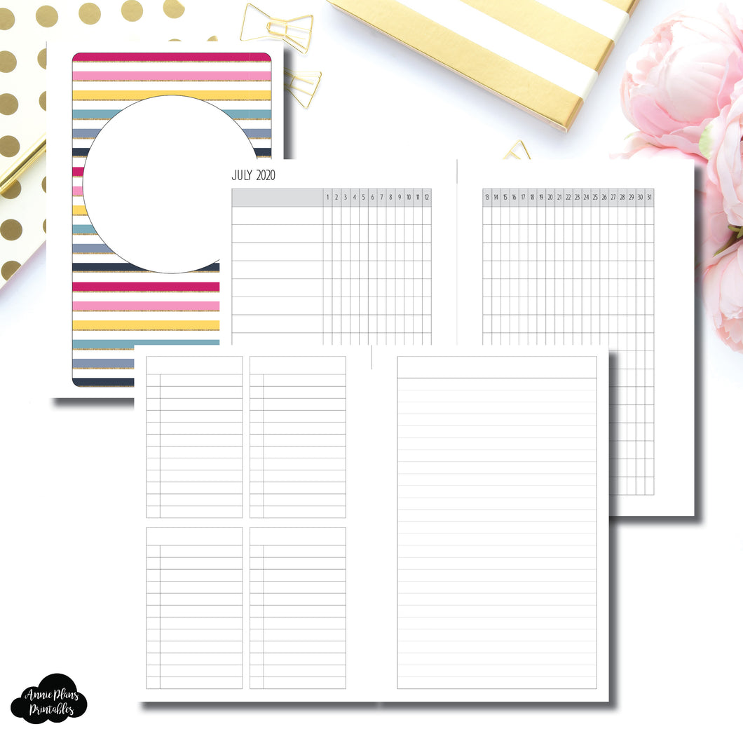 B6 Rings Size | JUL - DEC 2020 Tracker + Lists & Notes Printable Insert