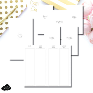 Personal TN Size | JUL - DEC 2020 | SIMPLE Vertical Week on 4 Pages Printable Insert