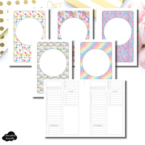 Pocket Plus Rings Size | Undated Structured Timed Daily Printable Insert
