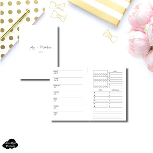 Pocket Plus Rings Size | JUL - DEC 2020 | Week on 1 Page With Trackers + Lists  Printable Insert