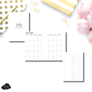 Pocket Rings Size | 2020 - 2021 Academic Monthly With Cover & Notes Page Printable Insert