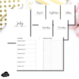 Pocket Rings Size | SIMPLE JUL - DEC 2020 Bundle: Weekly/Daily TIMED Printable Insert