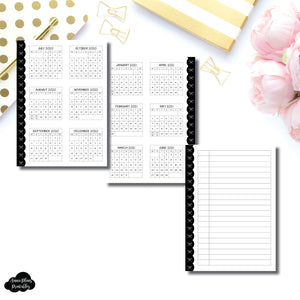Mini HP Size | 2020 - 2021 Academic Yearly Overview Printable Insert