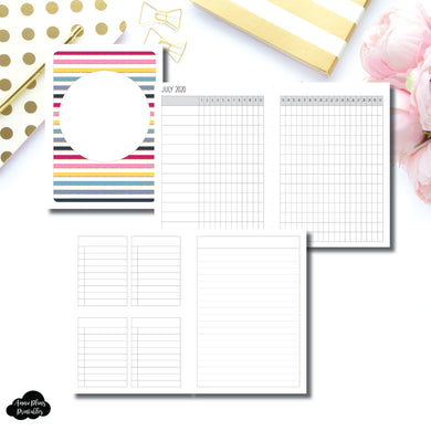 A6 TN Size | JUL - DEC 2020 Tracker + Lists & Notes Printable Insert