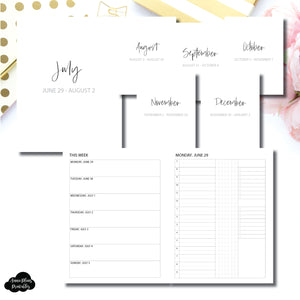 Classic HP Size | SIMPLE JUL - DEC 2020 Bundle: Weekly/Daily 3 COLUMN TIMED Printable Insert