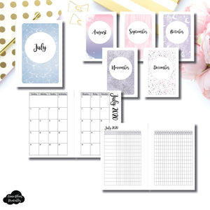 Pocket Plus Rings Size | CLASSIC JUL - DEC 2020 Monthly Calendar + Tracker Printable Insert