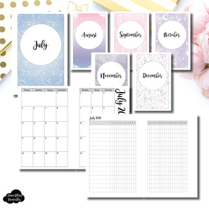 Mini HP Size | CLASSIC JUL - DEC 2020 Monthly Calendar + Tracker Printable Insert