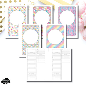 Pocket Rings Size | Undated Structured Timed Daily Printable Insert