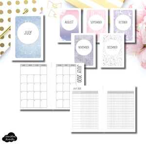 Pocket Plus Rings Size | SIMPLE JUL - DEC 2020 Monthly Calendar + Tracker Printable Insert