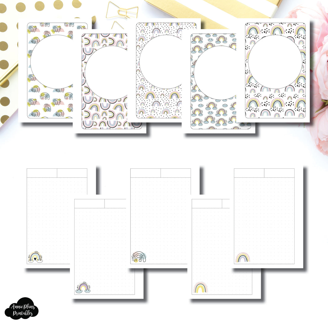 Personal Wide Rings Size | Happy Notes Printable Insert
