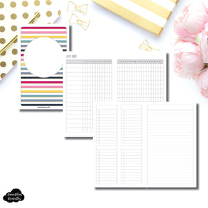 B6 Slim TN Size | JUL - DEC 2020 Tracker + Lists & Notes Printable Insert