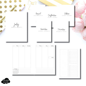 A6 Rings Size | JUL - DEC 2020 Bundle: Weekly Vertical Printable Insert