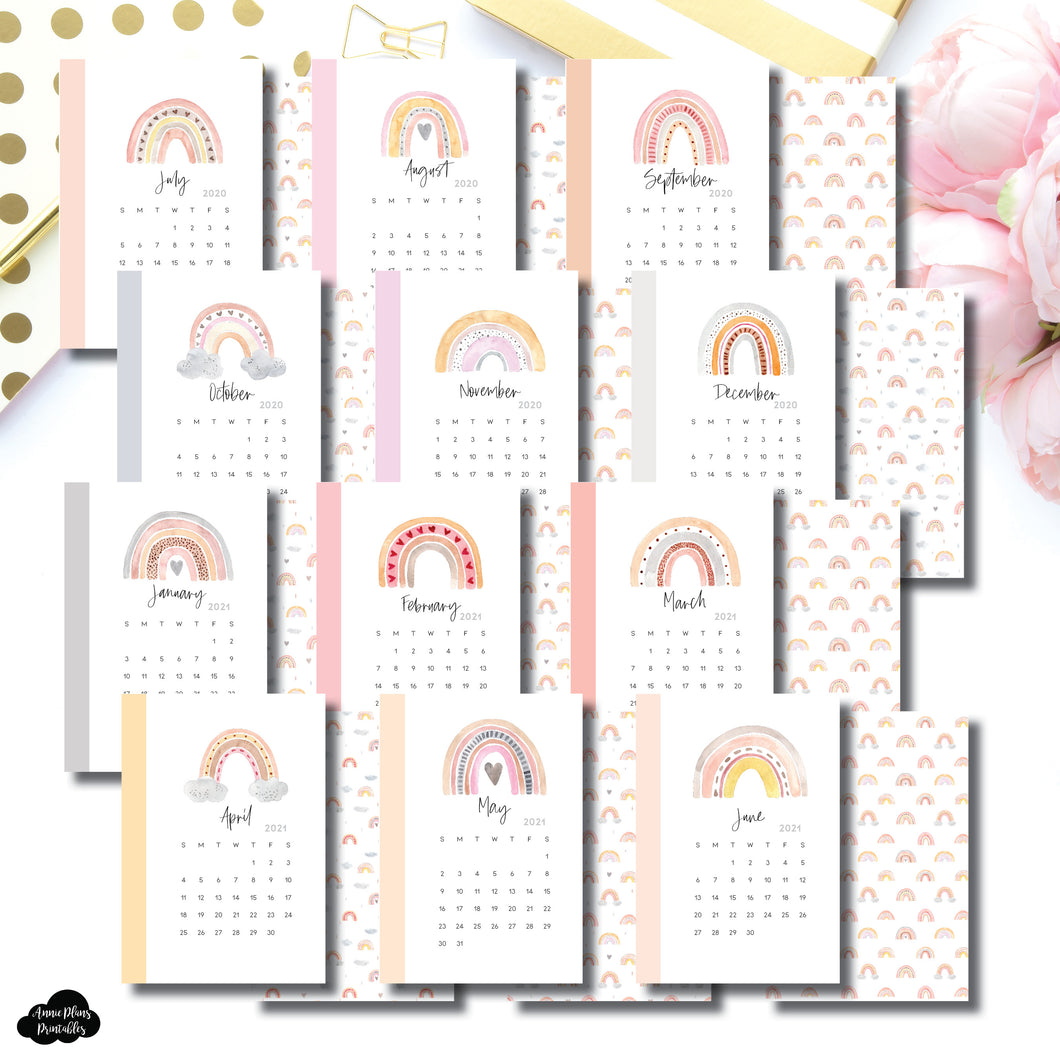 Pocket Plus Rings Size | Academic Calendar Monthly Dashboard Printable Insert