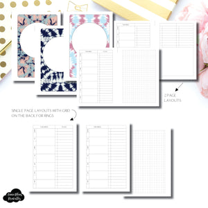 A6 Rings Size | Undated Weekly + Lists Printable Insert