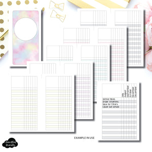 Personal Rings Size | Multi Use Tracker/Check List Printable Insert