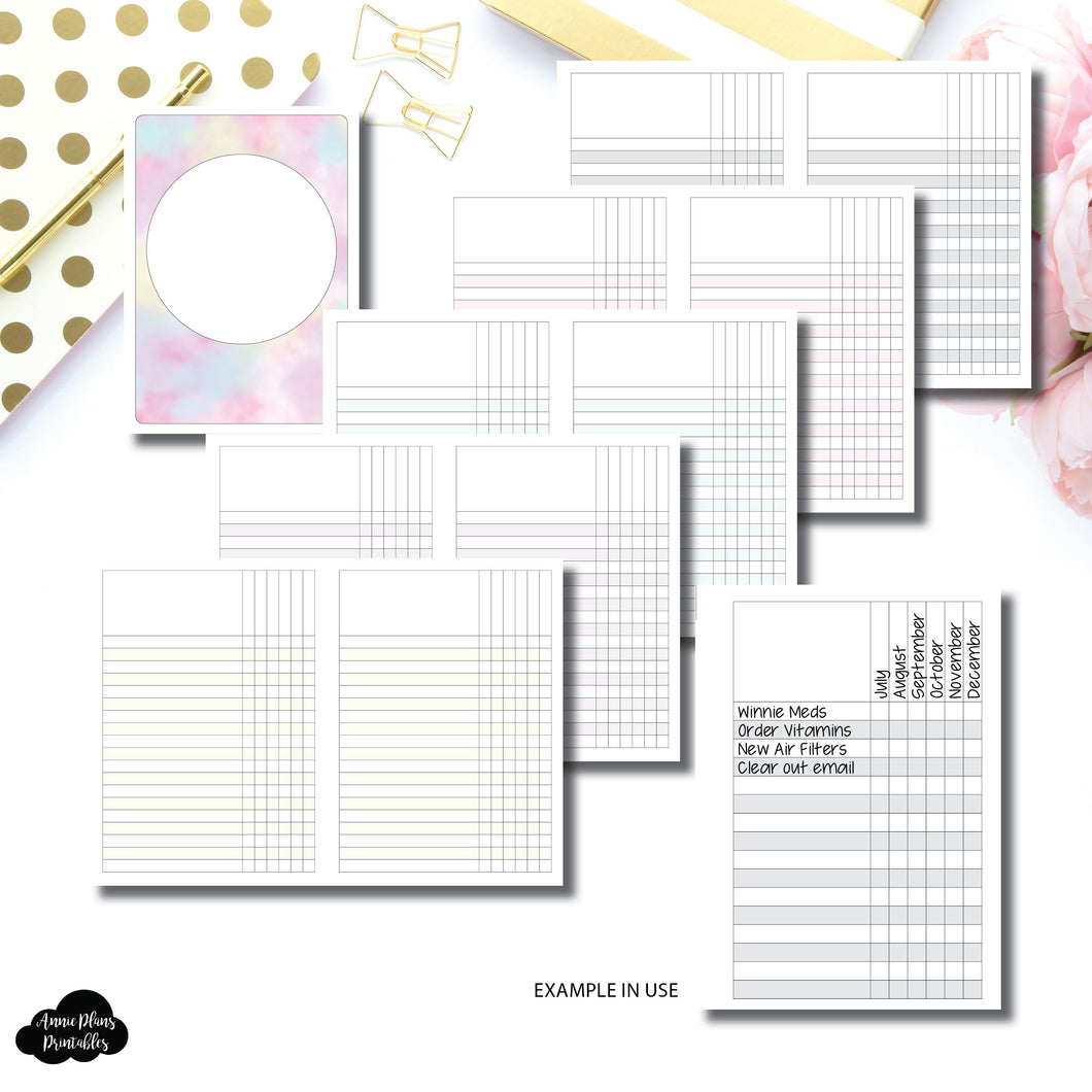 Pocket Plus Rings Size | Multi Use Tracker/Check List Printable Insert
