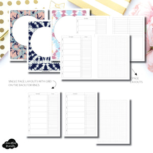 B6 Rings Size | Undated Weekly + Lists Printable Insert