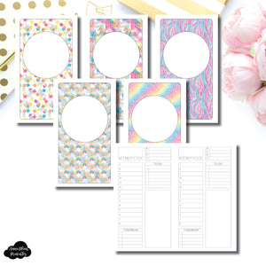Personal TN Size | Undated Structured Timed Daily Printable Insert