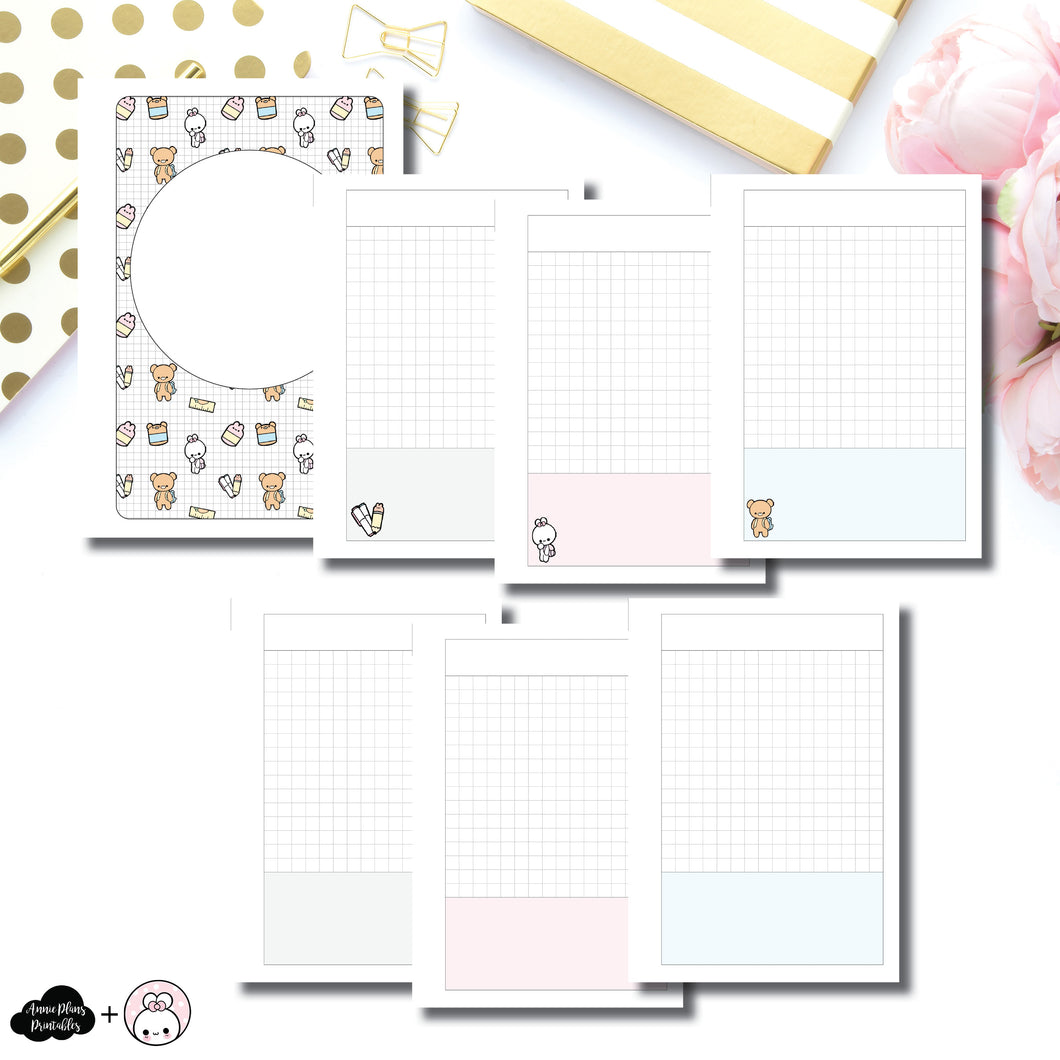 A6 Rings Size |  Pretty and Prim Co Back to School Collaboration Printable Insert