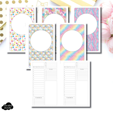 B6 Slim TN Size | Undated Structured Timed Daily Printable Insert