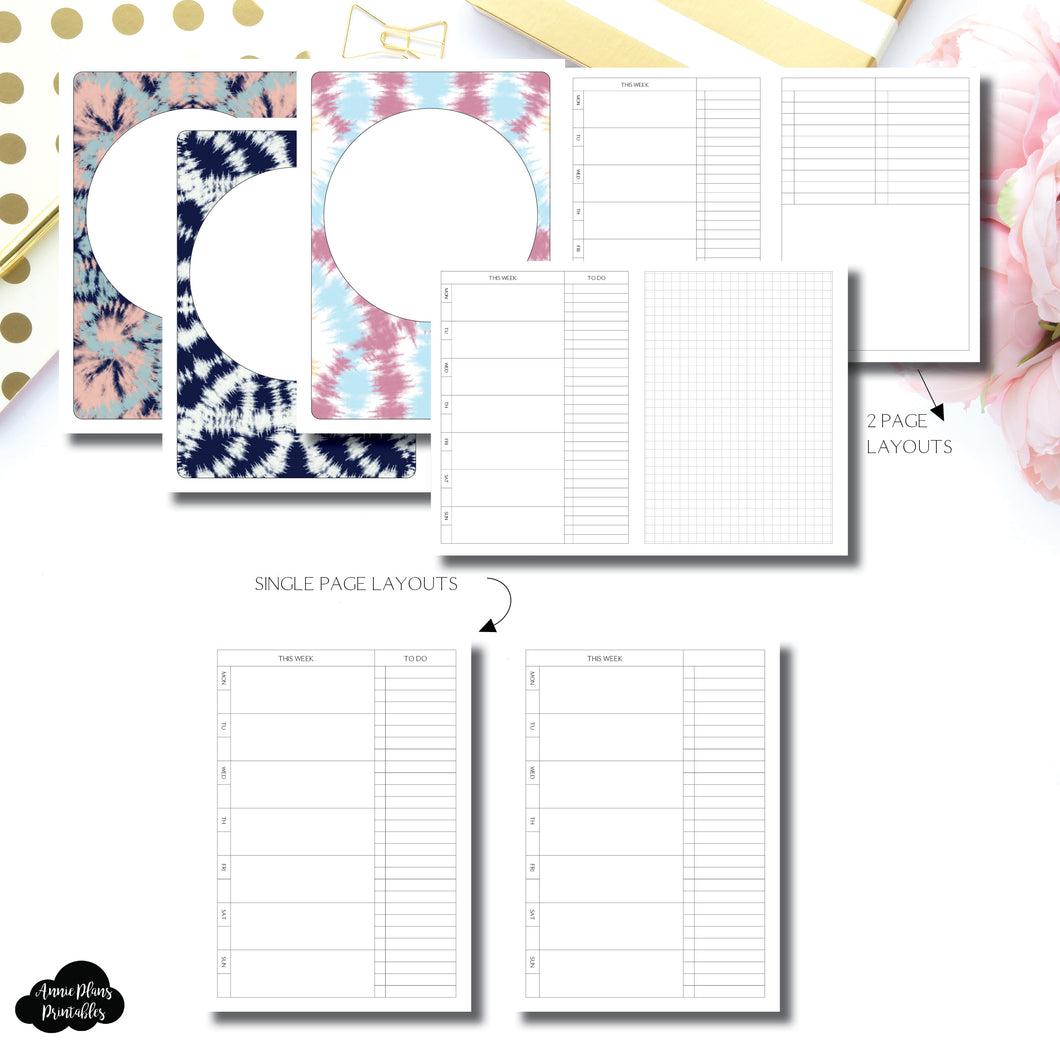 B6 Slim TN Size | Undated Weekly + Lists Printable Insert