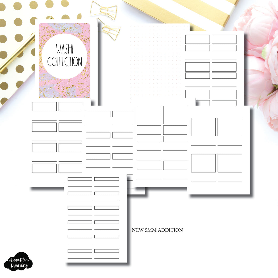 Personal Rings Size | Washi Collection Printable Insert ©