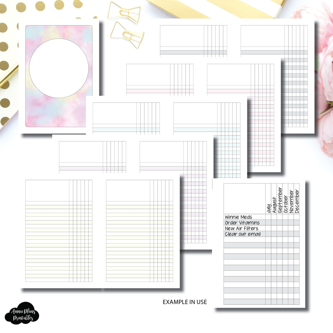 A5 Rings Size | Multi Use Tracker/Check List Printable Insert