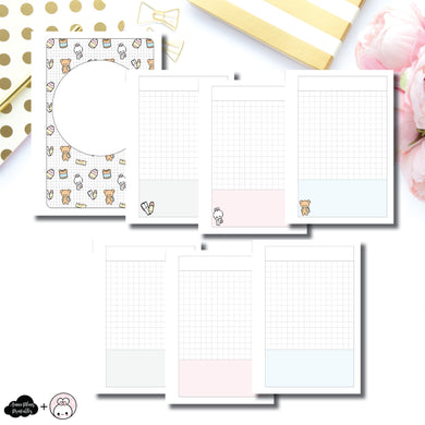 A6 TN Size |  Pretty and Prim Co Back to School Collaboration Printable Insert