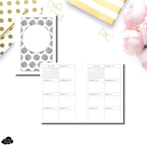 Pocket Rings Size | JUL - DEC 2020 Dated Week On 1 Page Double Column Printable Insert
